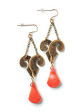 Flourish & Coral Earrings #AA07E