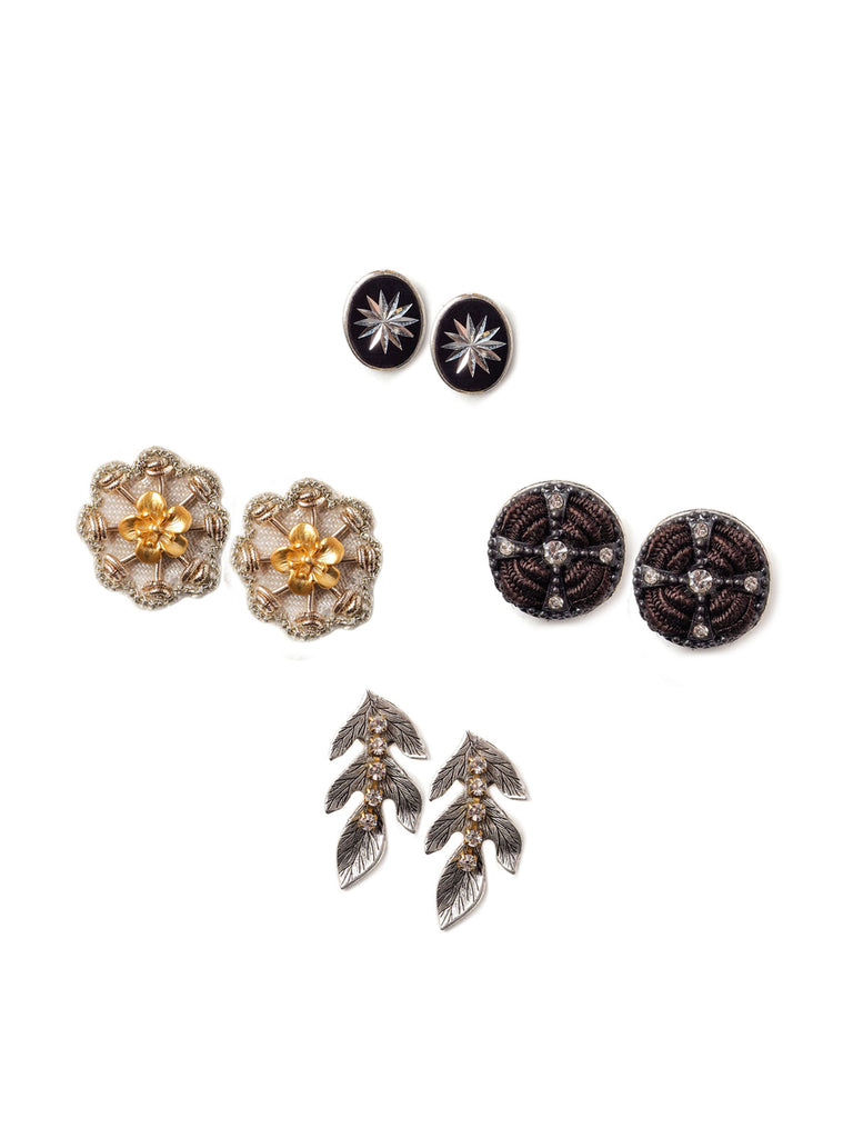 Winter Mix Stud Earrings Set #AA18E