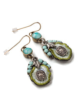 Embroidered Earrings  #AA28E