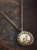 Snow Scene Pendant Necklace #B08N