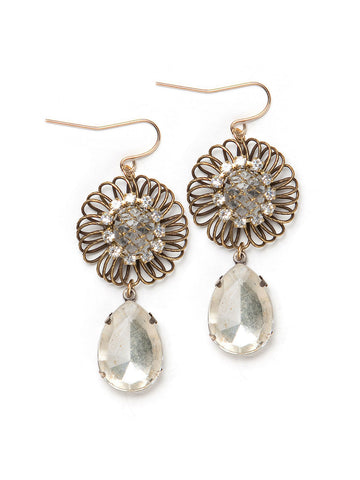 Crystal Droplet Earrings #B27E