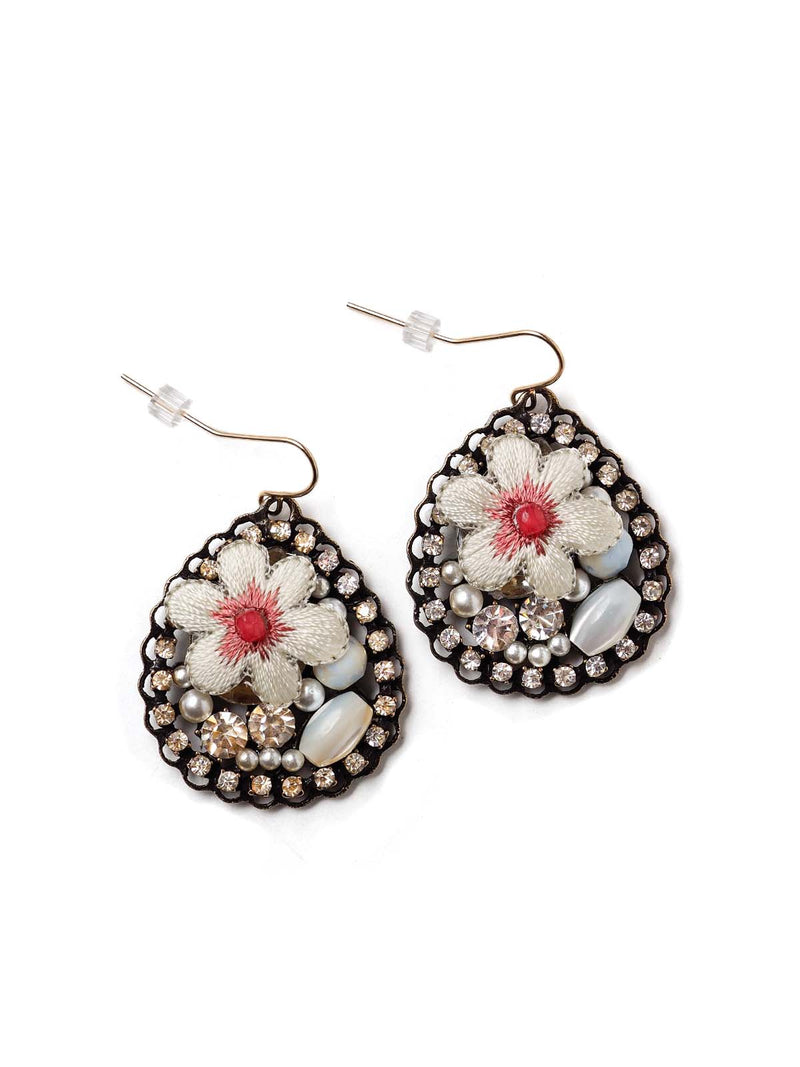 Pinch of Pink Teardrop Earrings