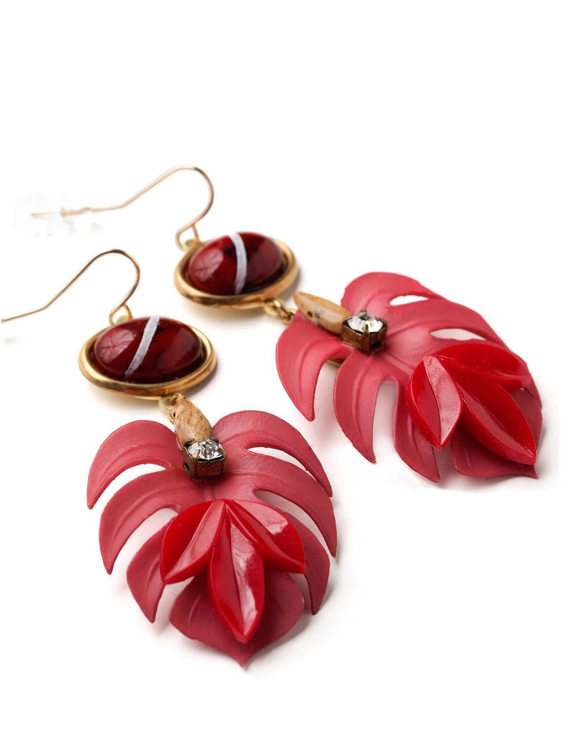 Under The Leaf Dangle Earrings