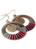 Color Wheel Earrings  #BB03E