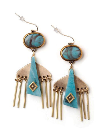 Fountain Head Earrings  #BB06E