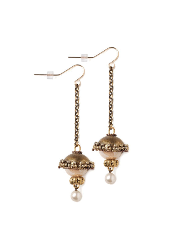Opera With Pearls Hanging Earrings