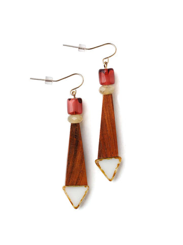 Woodsist Dangle Earrings  #BB14E