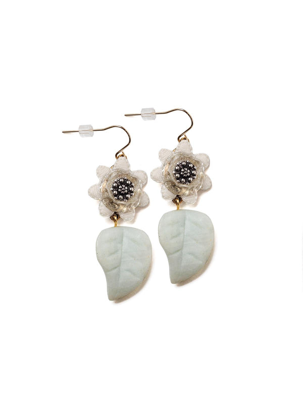 Velvet Petal Drop Earrings