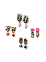Colored Bird Small Stud Earrings Set