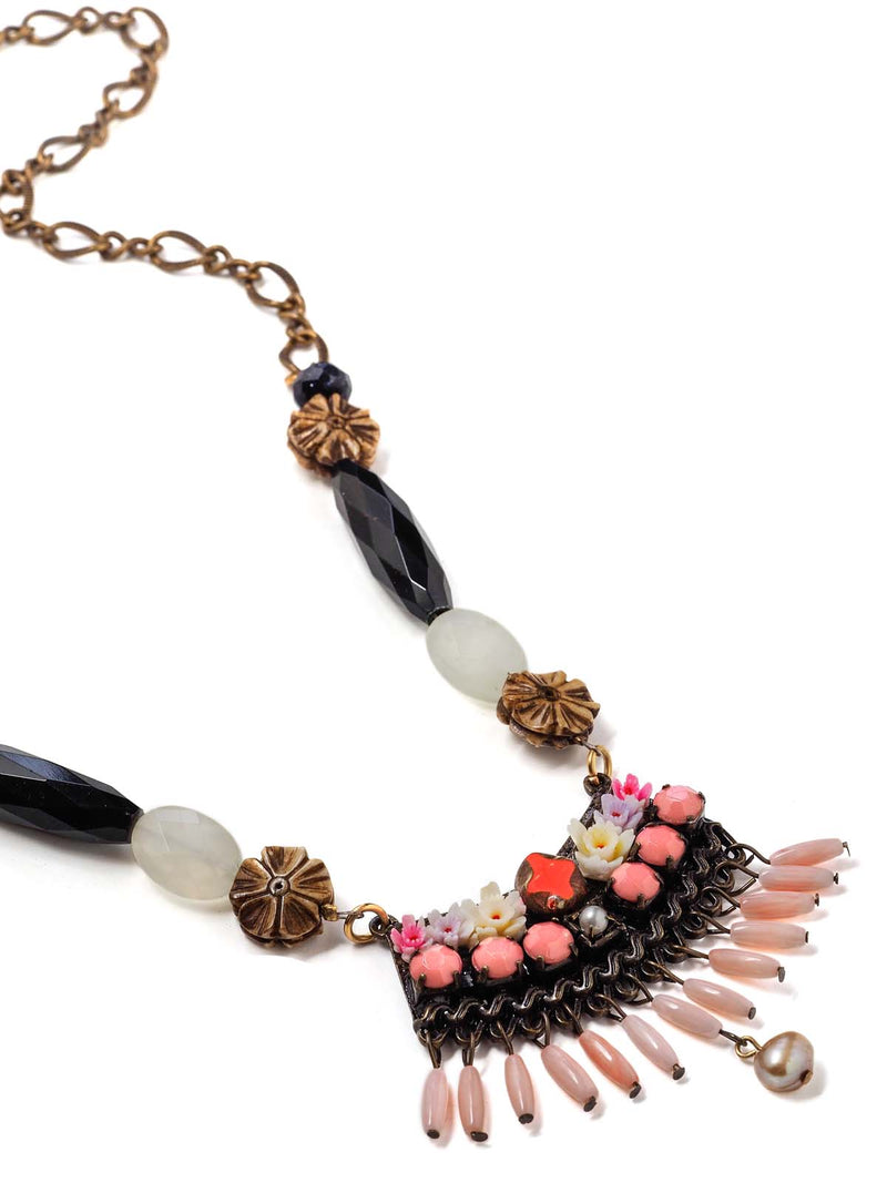 Pastel Bouquet Statement Necklace