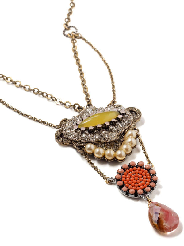 Fruit Drop Long Statement Necklace