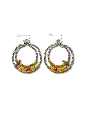 Cerrillos Turquoise Hoop Earrings #C11E