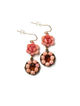 Beaded Rosé Earrings