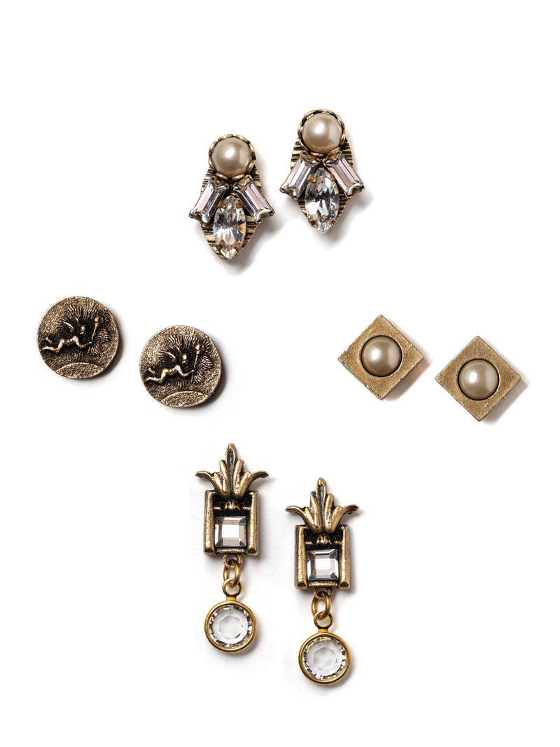 Glitz And Glam Stud Earrings Set