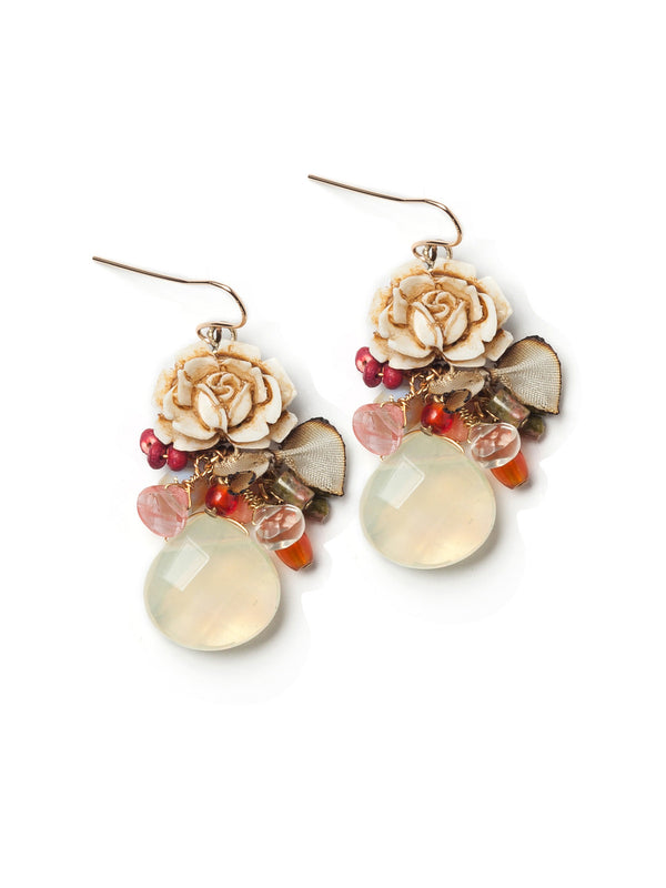 Rustic Rose Earrings by Elements Jill Schwartz