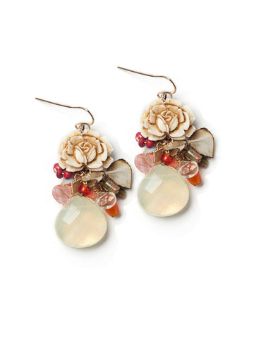 Rustic Rose Earrings #D03E
