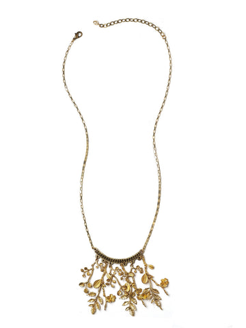 Gilded Flora Necklace #D04N