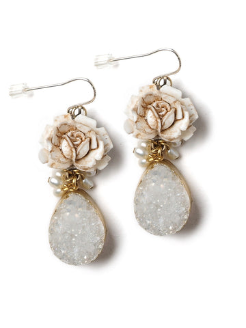 Winter Rose Earrings #D10E