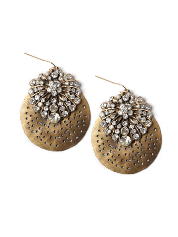 Gilded Glitz Statement Earrings #D11E