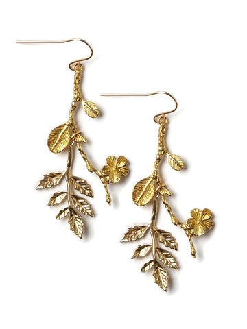 Gilded Branch Earrings #D17E