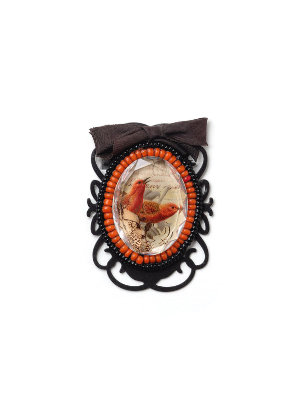 Birds and Bow Pin