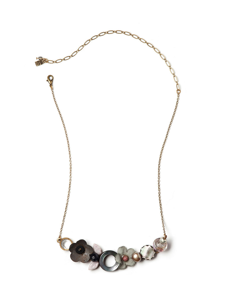 Rusted Petals Necklace #J04N