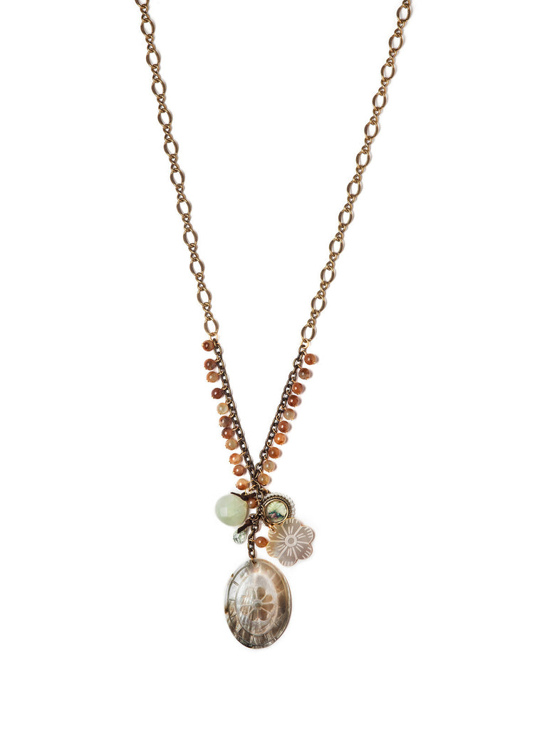 Floral Fossil Necklace #H14N