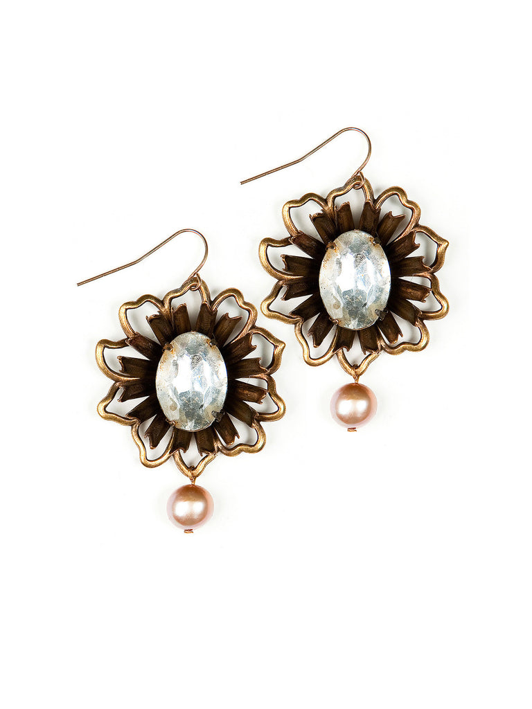 Rustic Bloom Earrings #F13E