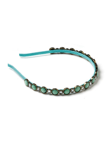 Teal and Crystal Headband #HB6