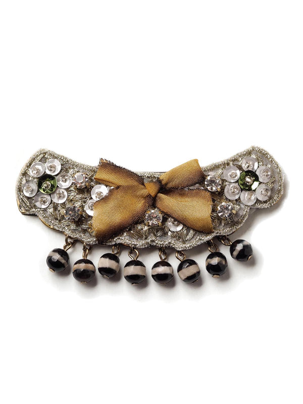 Bow And Beads Hair Clip