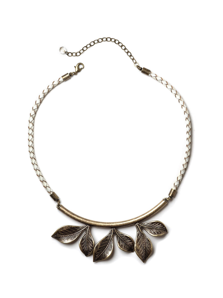 Bronzed Leaf Choker Necklace #N03N