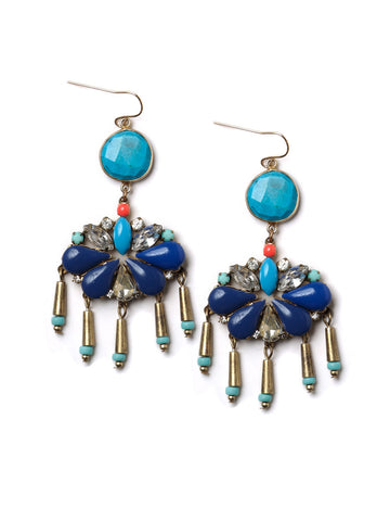 Blue Statement Earrings #N21E