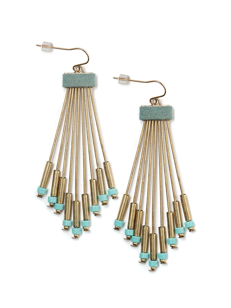 Blue Fan Earrings #N22E
