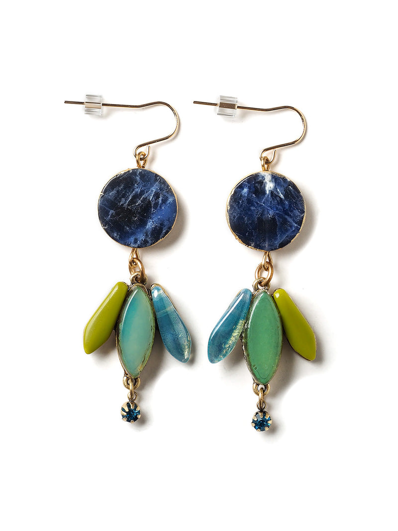 Cerulean Sea Earrings by Elements Jill Schwartz