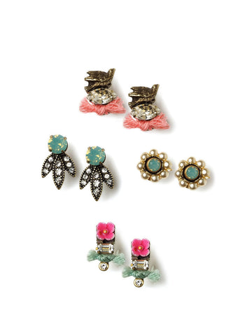 Spring Stud Earrings Set #N28E