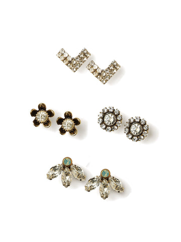 Sparkle Stud Earrings Set #N29E