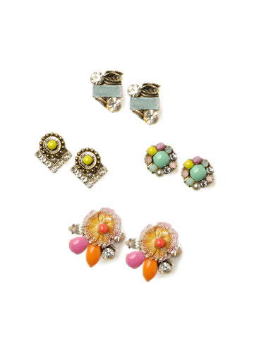 Pastel Stud Earrings Set #N30E