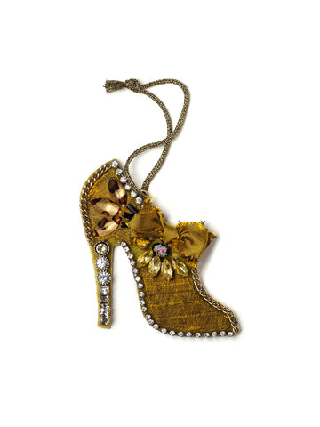 Chartreuse Pumps Holiday Ornament #OR20