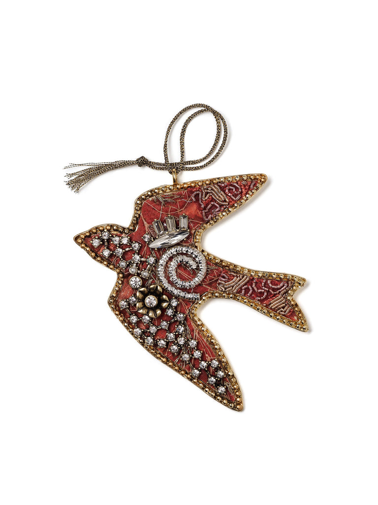 Bejeweled Bird Holiday Ornament #OR29