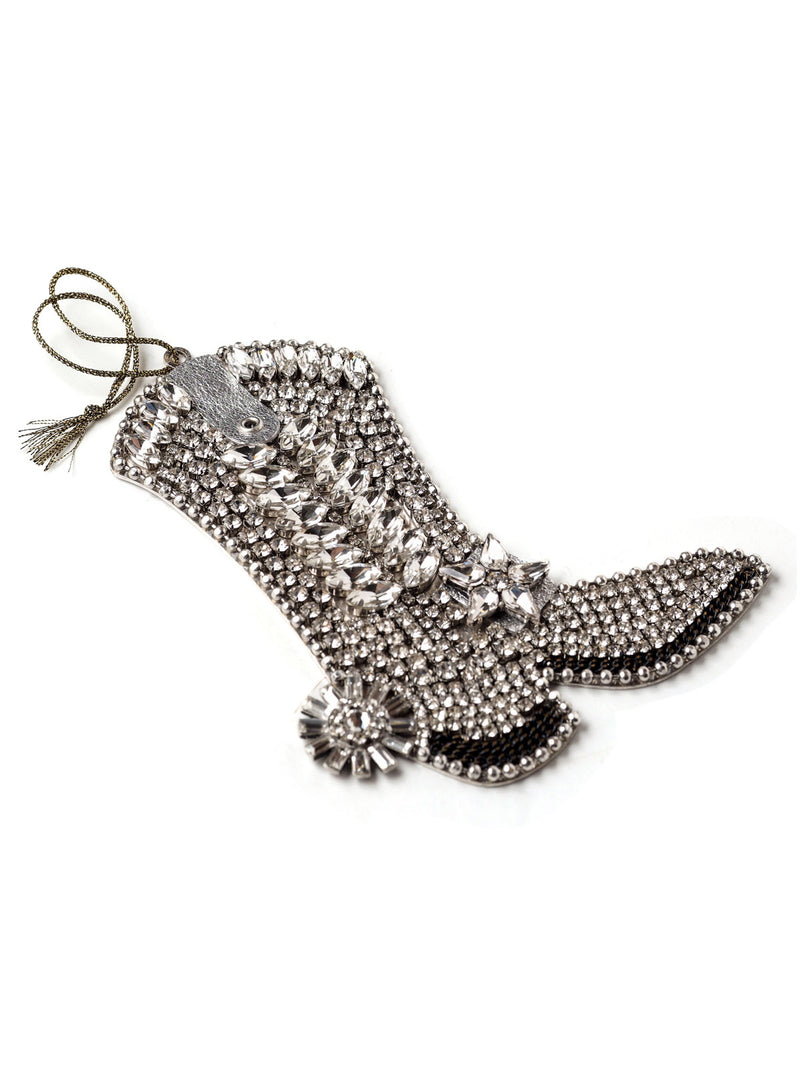 Western Christmas Bejeweled Cowboy Boot Ornament