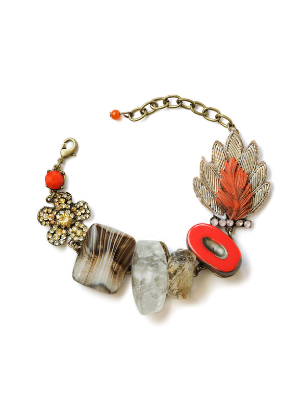 Coral Statement Bracelet by Elements Jill Schwartz