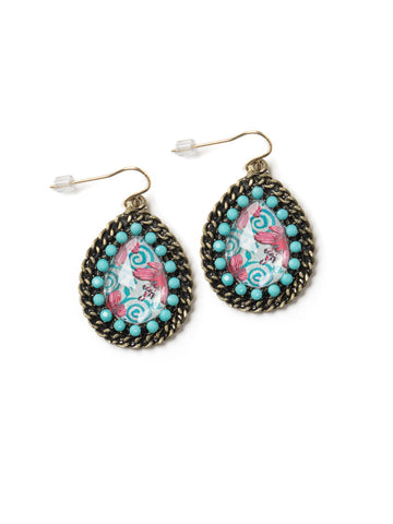 Blue Paisley Earrings #PLE6
