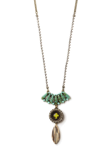 Double Drop Necklace #PLN12