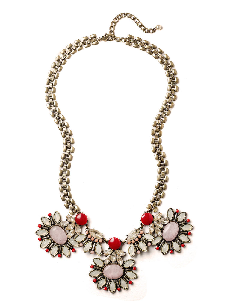 Summer Blush Statement Necklace by Elements Jill Schwartz