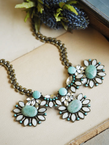 Summer Blues Statement Necklace #PLN14