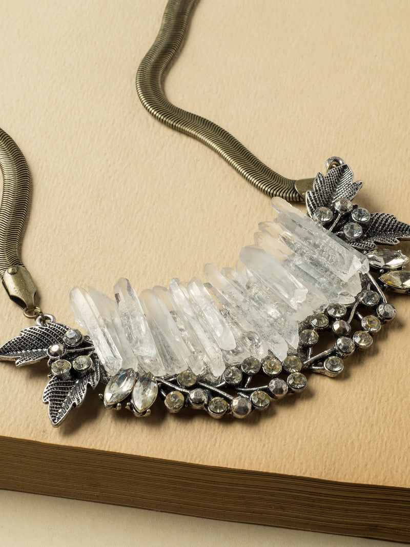 Ice Crystals Bib Necklace #PLN4