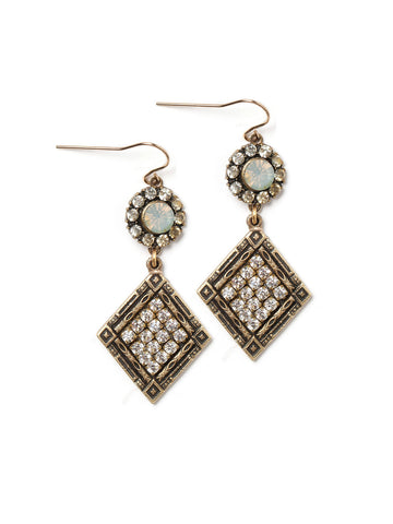Crystal Shield Earrings #S24E