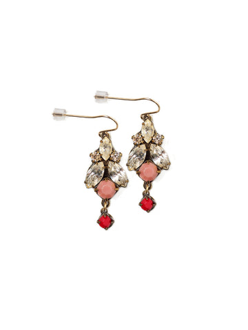 Coral Sparkle Color Pop Earrings #T26E