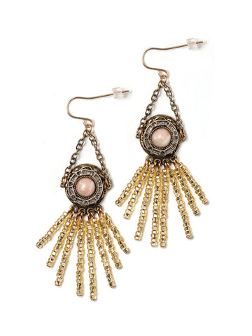 Beatrice Beaded Fringe Earrings #U01E