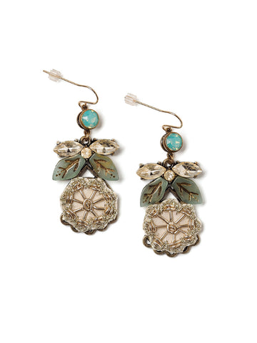 Cora Earrings With Appliqué #U03E